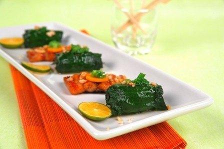 Đãi khách với món lươn nướng lá lốt