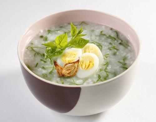 cháo trứng cút