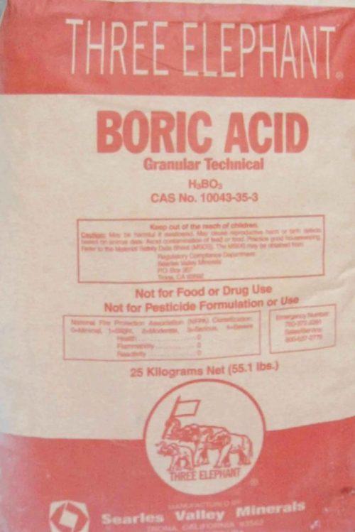 Axit boric diệt mối