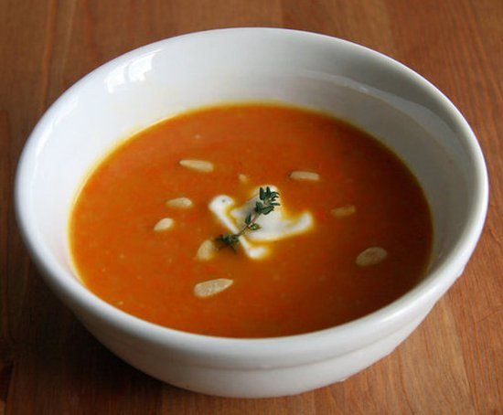 Súp gừng kết hợp cà rốt